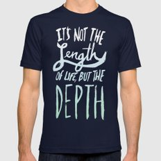 Big Sur x Depth Mens Fitted Tee Navy SMALL