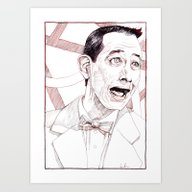 Pee Wee Herman By Aaron … Art Print