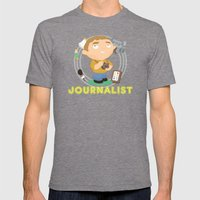 Journalist Mens Fitted Tee Tri-Grey SMALL