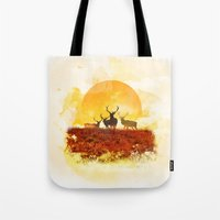 Tote Bag featuring Sunset by Lynette Sherrard Illustration and Design