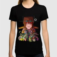 EL DESTRUCTOR Womens Fitted Tee Black SMALL
