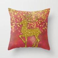 Sparkling Deer Throw Pillow