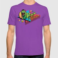 Dino Rollers Logo Mens Fitted Tee Ultraviolet SMALL