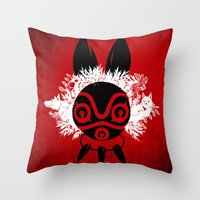 MONONOKE Throw Pillow