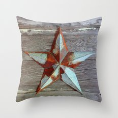 Primitive Rusty Star Throw Pillow