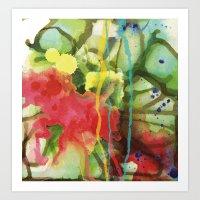 Fruity Splash Art Print
