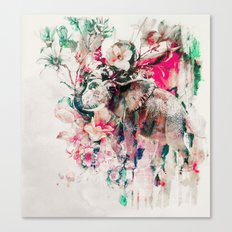 Watercolor Elephant And … Canvas Print