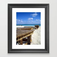 Caribbean Boardwalk Framed Art Print