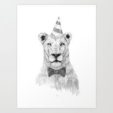 Get the party started Art Print