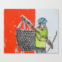 Seaweed Farmer Canvas Print