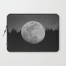 The Moon Landed – Black and White Laptop Sleeve