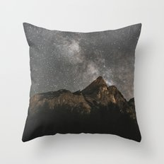 Milky Way Over Mountains - Landscape Photography Throw Pillow