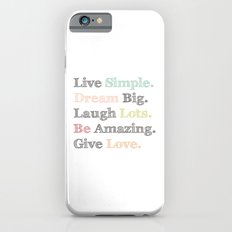 Inspiration Typography Quote Words Pastel  iPhone 6s Slim Case