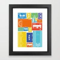 Cassette Heaven Framed Art Print
