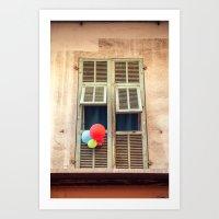 Nice France window 6133 Art Print