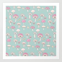 Mushrooms and Toadstools Art Print