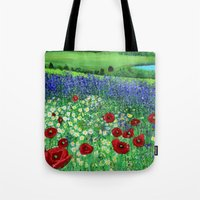 Blooming field Tote Bag