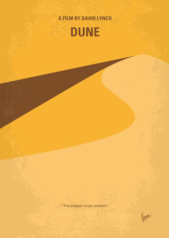 No251 My DUNE minimal movie poster Art Print