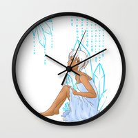 Isabelle and crystals Wall Clock