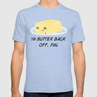 Sour food puns - Butter Mens Fitted Tee Tri-Blue SMALL