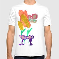 happy to be purple Mens Fitted Tee White SMALL