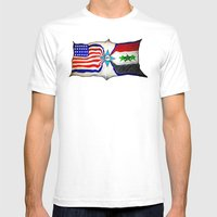 Flag Mens Fitted Tee White SMALL