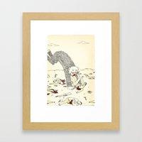 Pey Monster Framed Art Print