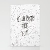 Equations Are Fun Stationery Cards