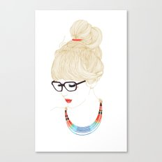 Fashion Glasses Canvas Print