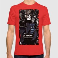 Broken, Rupture, Damaged… Mens Fitted Tee Red X-LARGE
