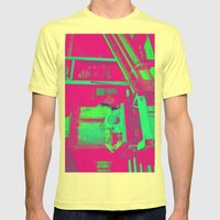 Industrial Abstract Purple Mens Fitted Tee Lemon SMALL