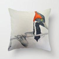 Fluter Throw Pillow