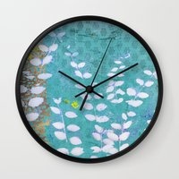 Ferns And Blue Skies Wall Clock