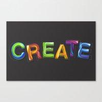 Create! Canvas Print
