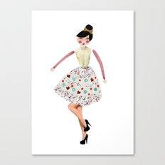 Cute as a button Canvas Print