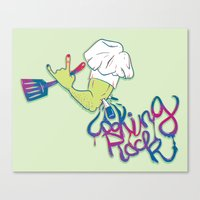 Cooking Rock Canvas Print