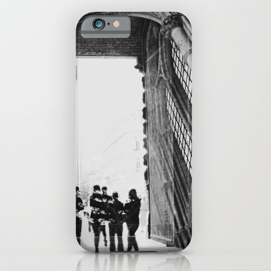 black and white cathedral iPhone & iPod Case