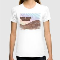 Retro Palo Duro Canyon Womens Fitted Tee White SMALL