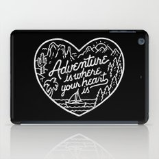 Adventure is where your heart is BW iPad Case