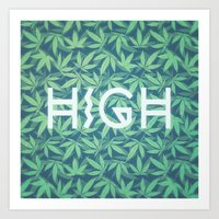 HIGH TYPO! Cannabis / He… Art Print