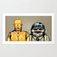 Cici & Art Art Print