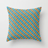 Pixel Hot Dogs Throw Pillow
