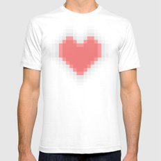 Heart SMALL White Mens Fitted Tee