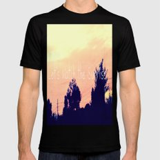 Let's Watch the Sunrise SMALL Black Mens Fitted Tee