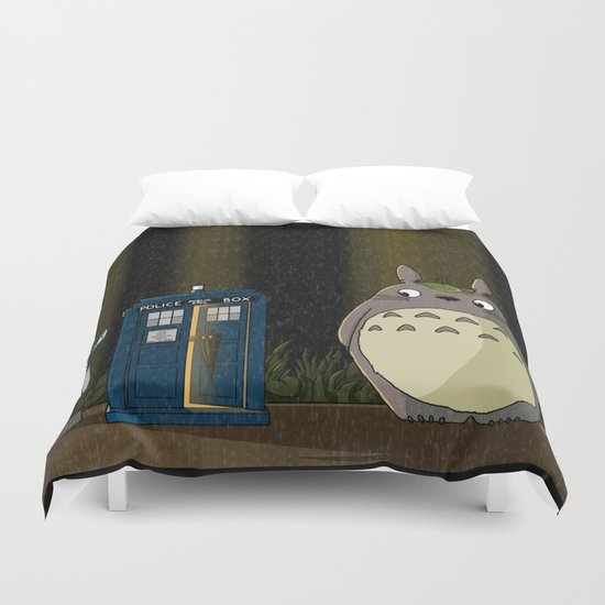 Allons-y Totoro alternate Duvet Cover
