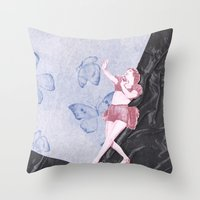 Butterfly Dancer Throw Pillow