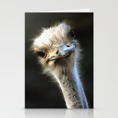 Ostrich Head Stationery Cards