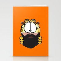 Garfield Cat Beard Stationery Cards