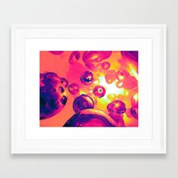 Surreal Spherical Entiti… Framed Art Print