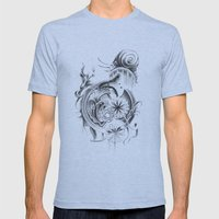 snail Mens Fitted Tee Athletic Blue SMALL